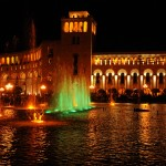 Republic Square at night - Yerevan, Armenia