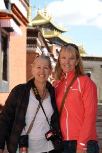 Ellen and Kirsten enjoying Tashilunpo Monastery - Shigatse, Tibet