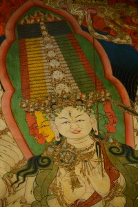 Eleven headed Buddha Goddess of compassion; Tashilunpo Monastery - Shigatse, Tibet