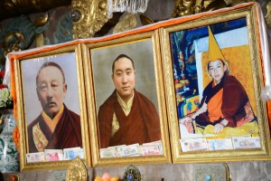Photos of former and current Panchen Lamas; Tashilunpo Monastery - Shigatse, Tibet