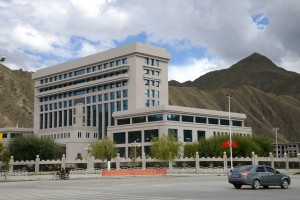 Lots of new modern buildings (not what we expected) - Lhasa, Tibet