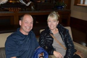 Mitch and Kirsten ready for dinner; happy to be in Lhasa, Tibet