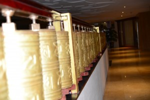 Prayer wheels are everywhere - Lhasa, Tibet